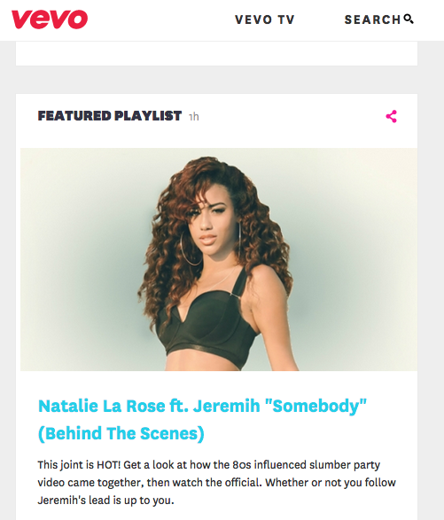 "BEHIND THE SCENES with Natalie LA Rose on the set of ""Somebody"" featuring Jeremih"